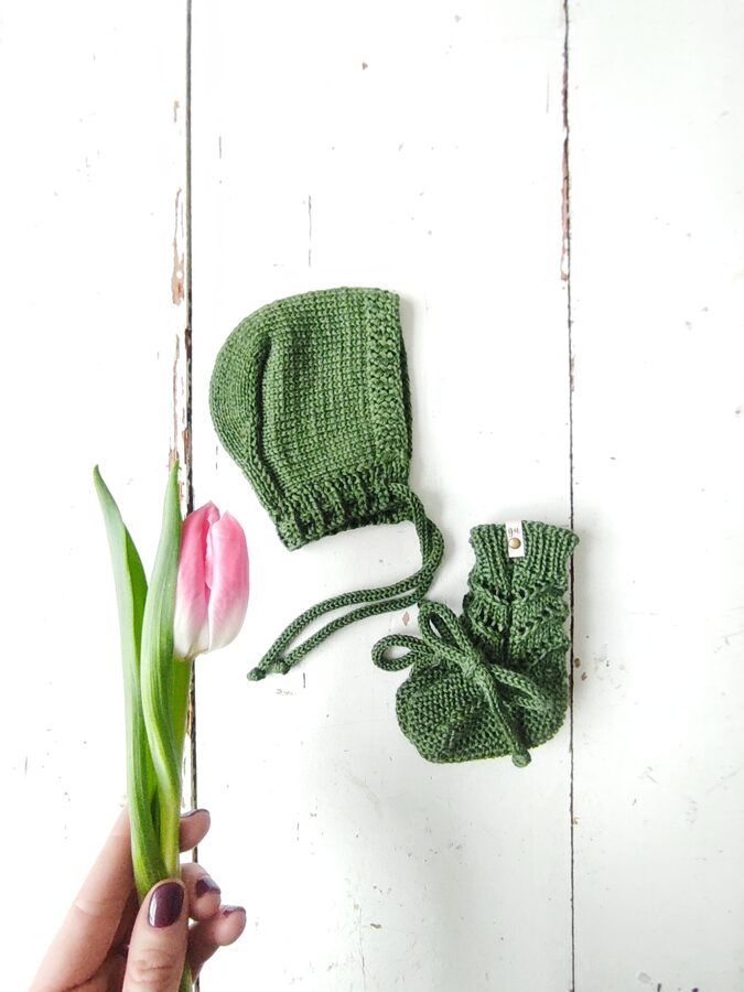 Adīta cepurīte - ZAĻŠ pavasaris